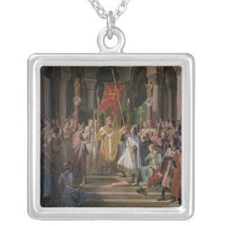 Philip Augustus  King of France Taking the Silver Plated Necklace