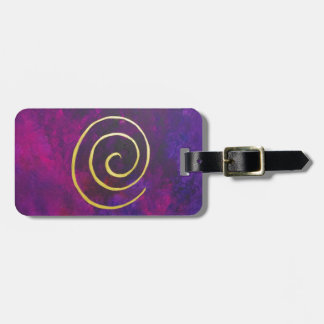 Philip Bowman Infinity Deep Purple Watercolor Art Luggage Tag