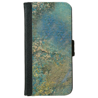 Philip Bowman Ocean Blue And Gold Abstract Art iPhone 6 Wallet Case