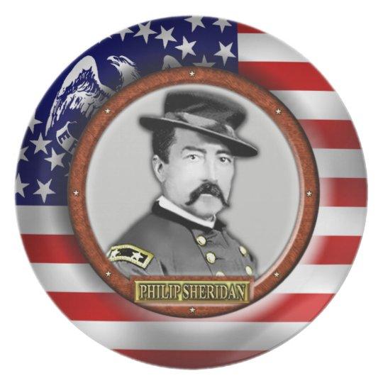 Philip Henry Sheridan Civil War Plate