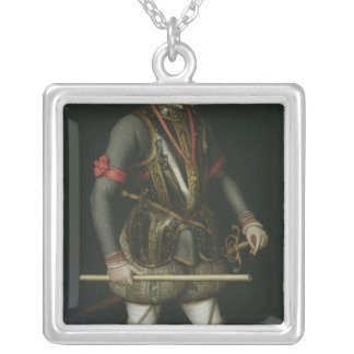 Philip II  of Spain Silver Plated Necklace