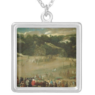 Philip IV Hunting Wild Boar , c.1632-7 Silver Plated Necklace