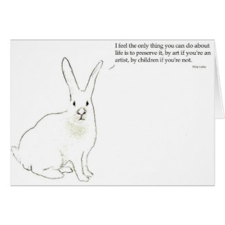 Philip Larkin  greeting card