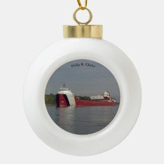 Philip R. Clarke ball or snowflake ornament