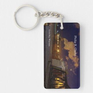 Philip R. Clarke night rectangle acrylic key chain