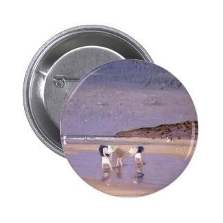 Philip Steer- Boulogne Sands Children Shrimping Pin