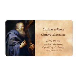 Philip the Apostle Peter Paul Rubens portrait Shipping Label
