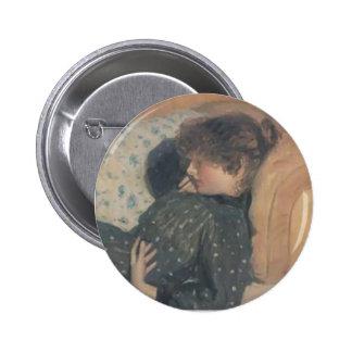 Philip Wilson Steer- Girl on a Sofa Button