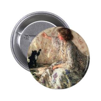 Philip Wilson Steer- Hydrangeas Pinback Buttons