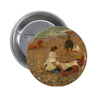 Philip Wilson Steer- Knucklebones Walberswick Pinback Button