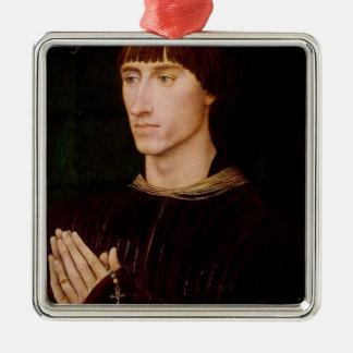Philippe de Croy  Seigneur of Sempy Silver-Colored Square Ornament