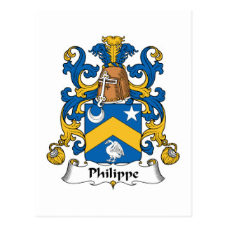 Philippe Family Crest Postcard