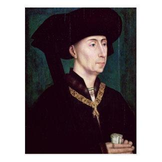 Philippe III  le Bon, Duc de Bourgogne, c.1445 Postcard