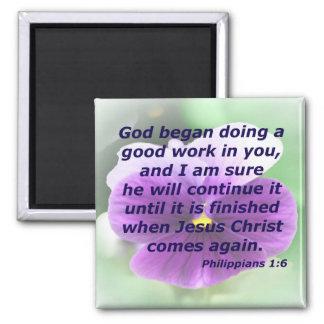 Philippians 1:6 magnet