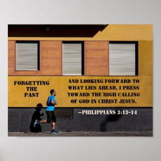Philippians 3:13-14 Press toward the high calling Poster