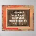 Philippians 4:13 Art Print