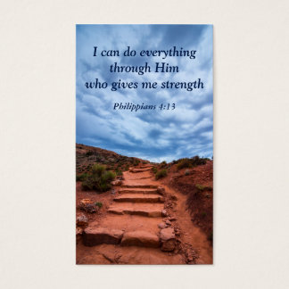 Philippians 4:13 Climbing Stairs in Arches Business Card