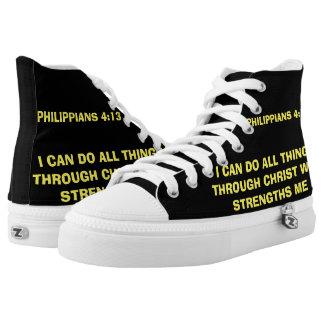 PHILIPPIANS 4:13 High Top Zipz Shoes