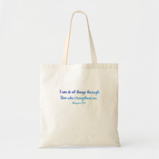 Philippians 4:13 – I Can Do All Things - Tote Bag