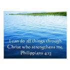 Philippians 4:13 inspiring Bible verse Postcard
