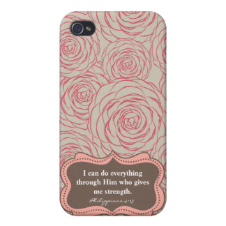 Philippians 4:13   Modern I-Phone case iPhone 4/4S Cover