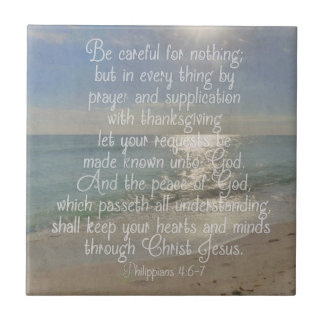 Philippians 4:13 Peace Bible Verse Beach Christian Tile