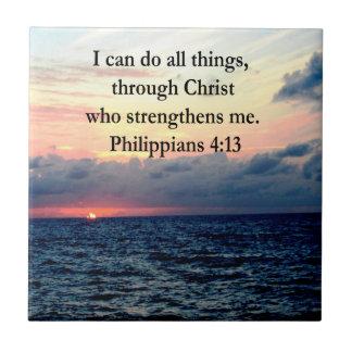 PHILIPPIANS 4:13 SUNRISE DESIGN TILE