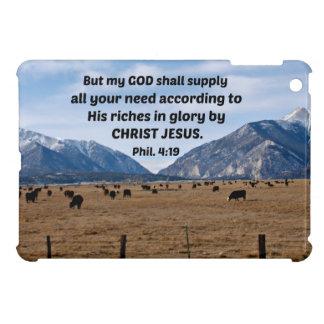 Philippians 4:19 cover for the iPad mini