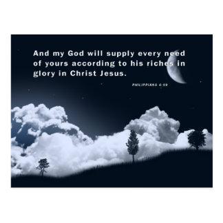 PHILIPPIANS4:19 POSTCARD