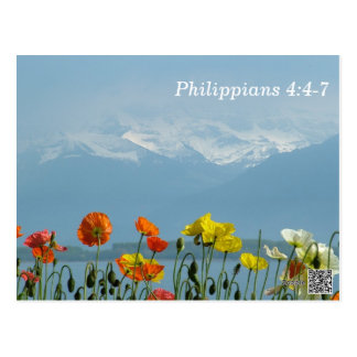 Philippians 4:4-7 Scripture Memory Card Postcard