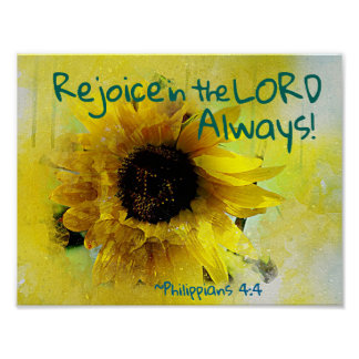 Philippians 4:4 Rejoice in the Lord Always! Bible Poster