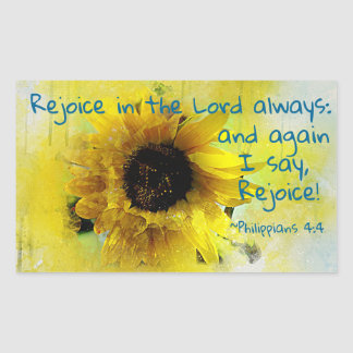 Philippians 4:4 Rejoice in the Lord Always! Bible Sticker