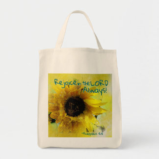 Philippians 4:4 Rejoice in the Lord Always! Bible Tote Bag