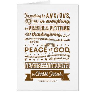 Philippians 4:6, 7 card