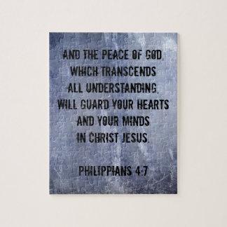 Philippians 4:7 Bible Verse Jigsaw Puzzle