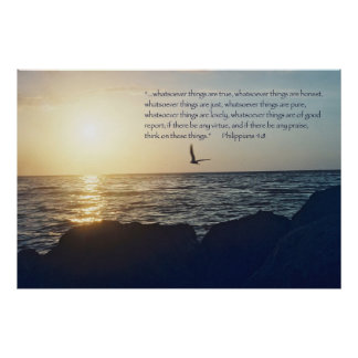 Philippians 4:8 Scripture Poster -- Version D