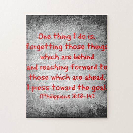 Philippians Bible verse One thing I do is Jigsaw Puzzle