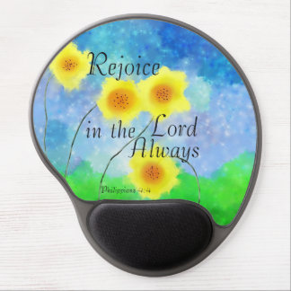 Philippians Scripture, Rejoice in the Lord Always Gel Mouse Pad