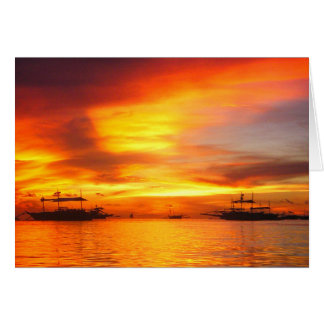 Philippians Sunset Card