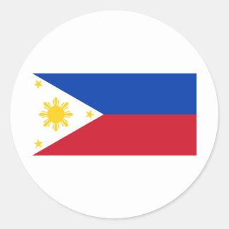 Philippine Flag Classic Round Sticker