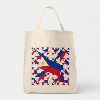 Philippine Flag in Multiple Colorful Layers Askew Tote Bag