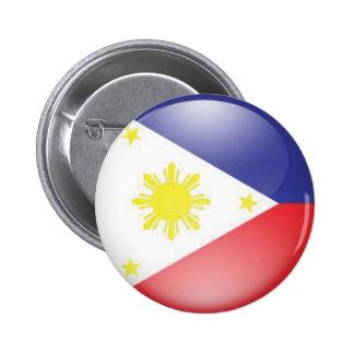 Philippine Flag (round) 2 Inch Round Button