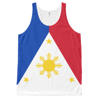 Philippine Flag Shirt Tank Top All Over Print