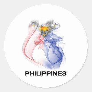 PHILIPPINE FLAG smoke Classic Round Sticker