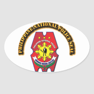 Philippine National Police Seal with Text