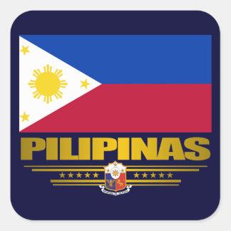 """""""Philippine Pride"""" Square Sticker"""
