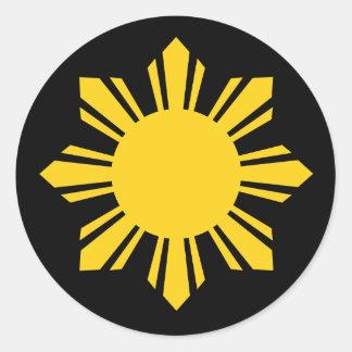 Philippine Sun Classic Round Sticker