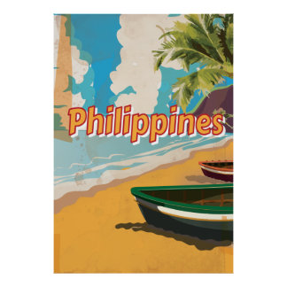 Philippines Classic old travel poster