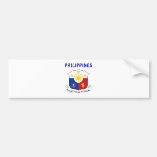 PHILIPPINES Coat Of Arms Bumper Sticker