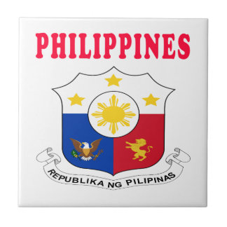 Philippines Coat Of Arms Designs Tile